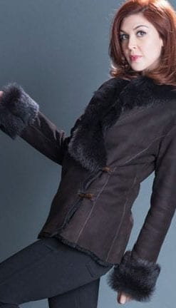 Shearling, The Ins and Outs: chic tailored double-breasted jacket