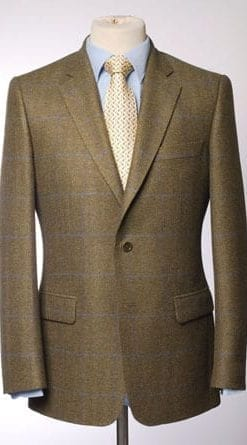 Superb hand-finished pure wool tailored jacket in lovat green