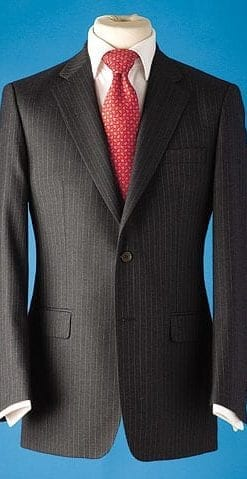 Pure wool pinstripe jacket
