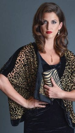Animal magic: pure silk devore bolero jacket, a snip at £49