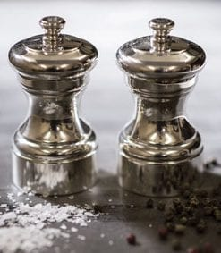 Peugeot silver Mignonette pepper and salt mills: a legacy in silverware