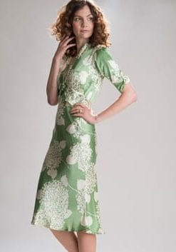 Girls in their summer dresses: new silk collection by Nancy Mac: Sable Silk Midi Dress