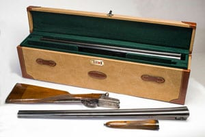 The classic canvas and leather shotgun motorcase: Double Shotgun Case, the Bowland