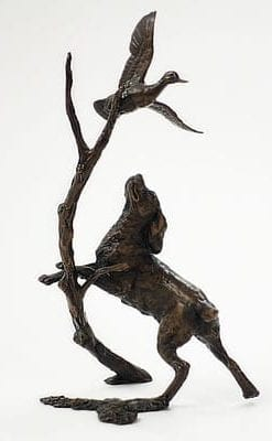 Limited edition bronze, 'Springer With Duck': collector's item, final piece in the edition