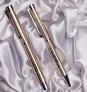 Silver and Rose Gold Pen Set