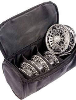 Sensational new Spectre cassette fly reel in black or gunmetal silver, plus three spare cassette spools in reel case: #7/8