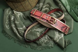 New Highlands Stag Scarf in cashmere and fine wool: a snip at £33