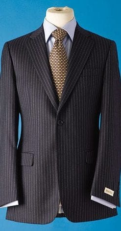 Pure wool pinstripe trousers: two pairs