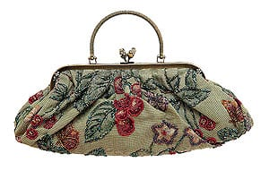 Victorian style beaded tapestry handbag