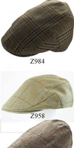 The new Christys' & Co Balmoral pure wool tweed caps for autumn-winter