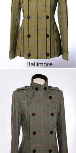 Pure wool tweed Jacket, military style
