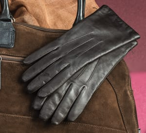 A 100-year classic: the Tilly cashmere-lined leather gloves by Southcombe of Somerset