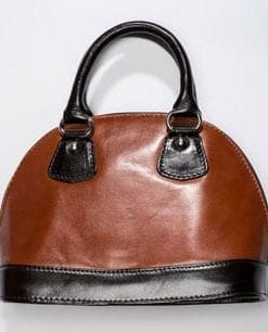 Chic duo-tone leather Taranto handbag from Italy: a snip at £49