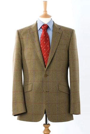 Elegant, hand finished pure wool Irish tweed jacket by master tailors Magee