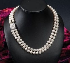 Enchanting new Tosca Necklace in natural pearls, diamonds and 18ct gold