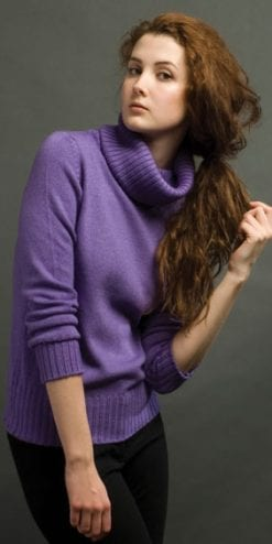 Pure Italian style: Luxurious two-ply cashmere-silk jumper, the Valentina