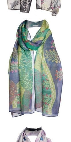 Sheer beauty: silk art by Thea Porter: pure silk chiffon stoles, a snip at £37