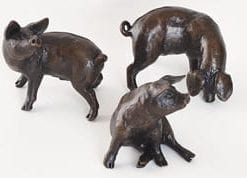 Limited edition bronze: Three Little Pigs by Michael Simpson