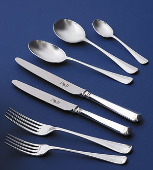 English Sterling Silver Rattail Cutlery