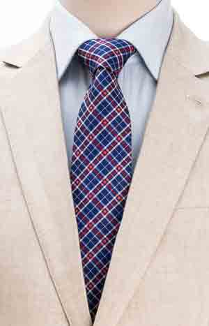 New season ties: the smart pure silk check