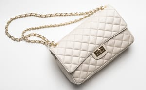 Classic Italian quilted leather bag: the Vernazza: sumptuous, stylish, and only £79