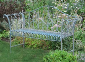 Stylish vintage garden bench by Chelsea Gold Medal winners: a snip at £99 delivered