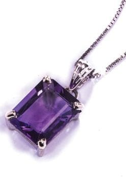 Violetta Necklace and Earrings Set in amethyst and white gold: Necklace