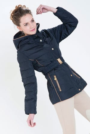 Elegant and smart tailored Vallées quilted jacket with belt