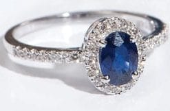 Sapphires, Diamonds and 18ct Gold: The Valois Ring from Hatton Garden