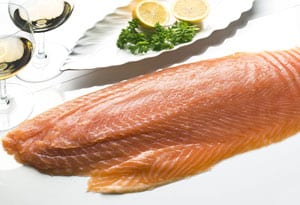 Finest Var smoked salmon, chemical free: the nearest thing to wild Atlantic salmon: only £29.95 per kilo, delivered