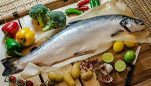 The best fresh Atlantic salmon, chemical free: 6kg whole Var Salmon