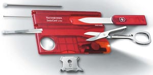 Ingenious new Victorinox SwissCard Lite: great multi-tool gadget the size of a credit card