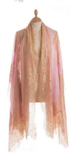 Romantic pashm and silk lace stole, the beautiful new Violetta