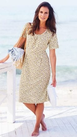 Fresh, summery pure cotton slub Wave Dress by Adini