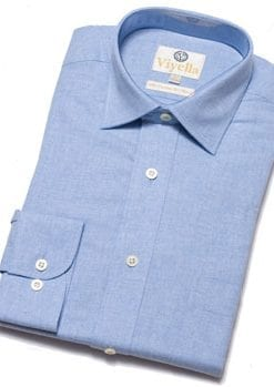 New and warm Viyella cotton-merino plain shirts: a snip at £39