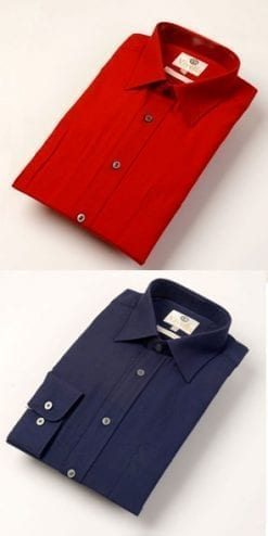 New season's Viyella cotton and merino wool shirts, only £39