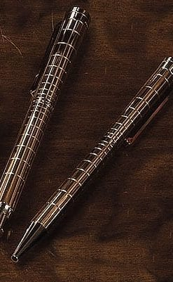 Waldman silver and rose gold pen set