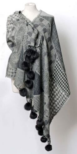 Pure wool Chelsea Shawl: just add checks to update a look