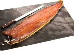 Wild, rod-caught Atlantic salmon, the ultimate smoked salmon: 1.6kg side