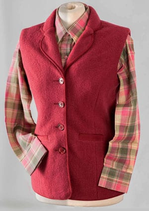 In the pink: super new English-made pure wool gilet