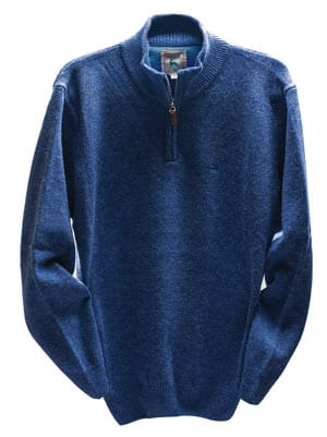Lambswool quarter-zip jumper by Magee of Donegal