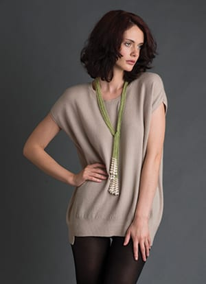 Pure class, pure cashmere by Ochre: the Zula round-neck tunic