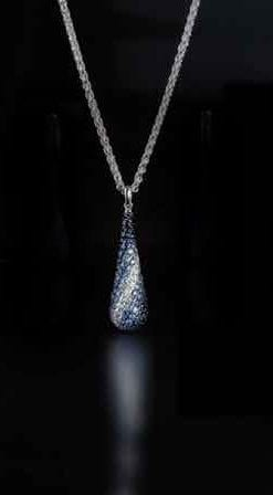 New Sapphire and Silver Collection from New York: Aphros Teardrop Pendant