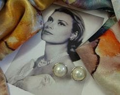 Fine and large high-lustre natural pearl and 14ct gold earrings: save £546