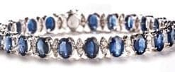 Stunning new Ceylon sapphire and diamond bracelet from Hatton Garden: save over £6,000