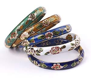 Beautiful cloisonné bangle: a work of art for £15