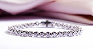 3.35 Carat Collet-set Diamond Bracelet