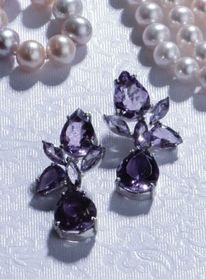 Romantic amethyst and sterling silver Columbine Earrings