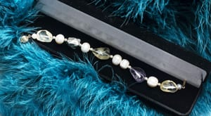 Fabulous new citrine, amethyst and pearl Dreaming Bracelet with 14ct gold and sterling silver