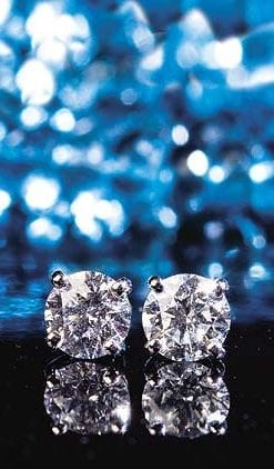 The Classic Diamond Earrings and 18ct White Gold: superb earrings, save over £1,100